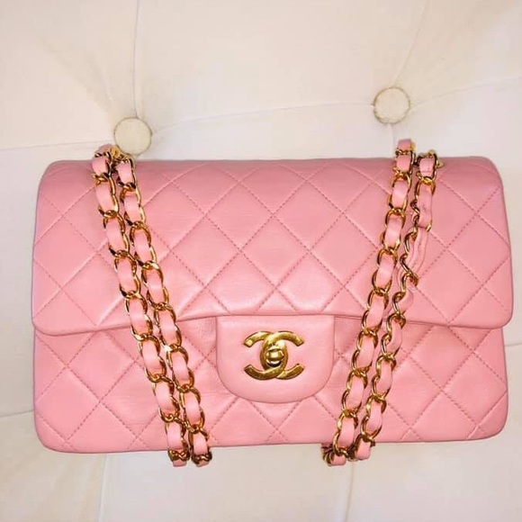 CHANEL Handbags - CHANEL DOUBLE FLAP SMALL LAMBSKIN GHW EXCELLENT